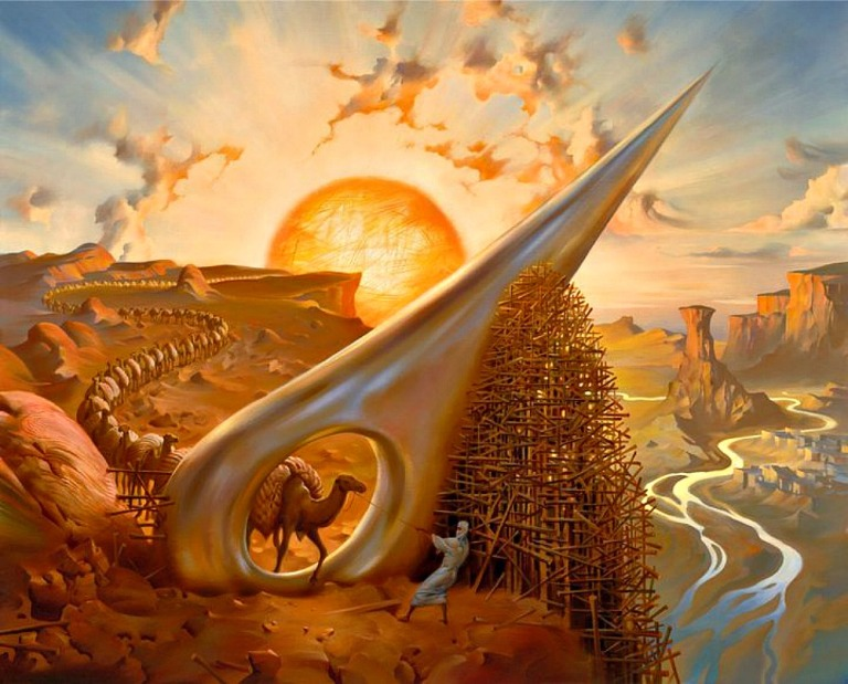 """""""Eye of the Needle"""" by Vladimir Kush"""