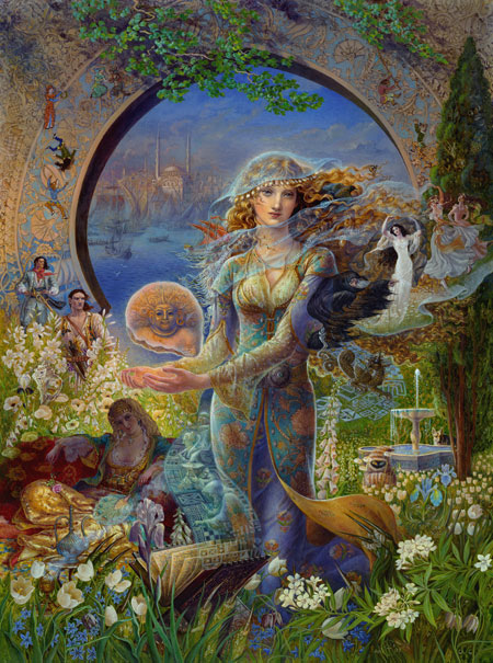 Cover art that Kinuko Y. Craft did for Juliet Marillier's Book Cybele's Secret