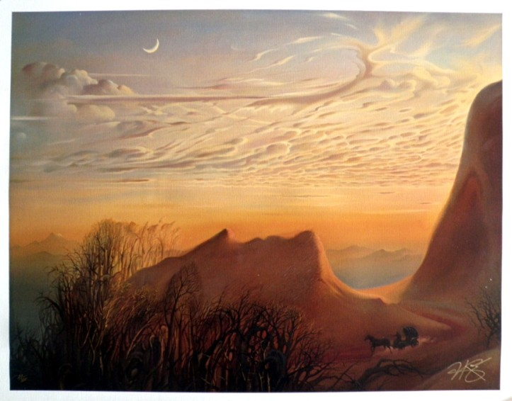 """Anticipation of Night's Shelter"" by Vladimir Kush"