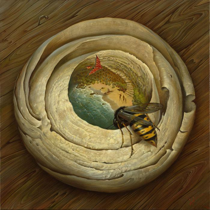 """One flew over the Wasp's Nest"" by Vladimir Kush"