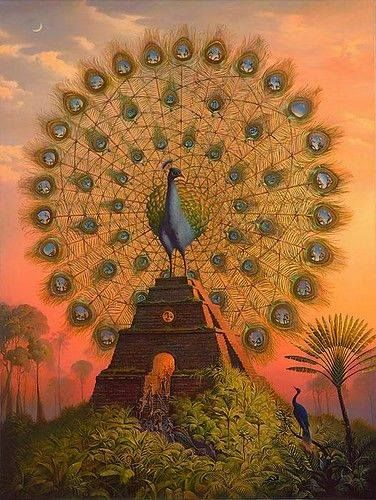 """Sacred Bird Of Yucatan"" by Vladimir Kush"