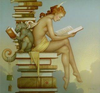 """""""Ex Libris"""" by Michael Parkes"""