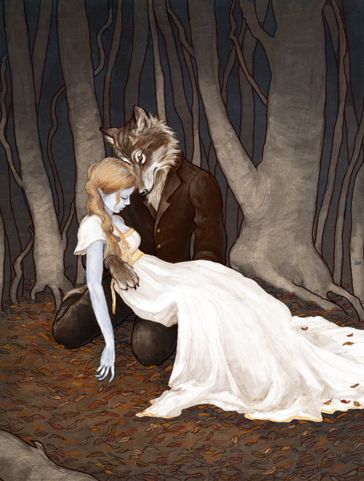 """The Wolfman"" by Erin Kelso (bluefooted on deviantart)"